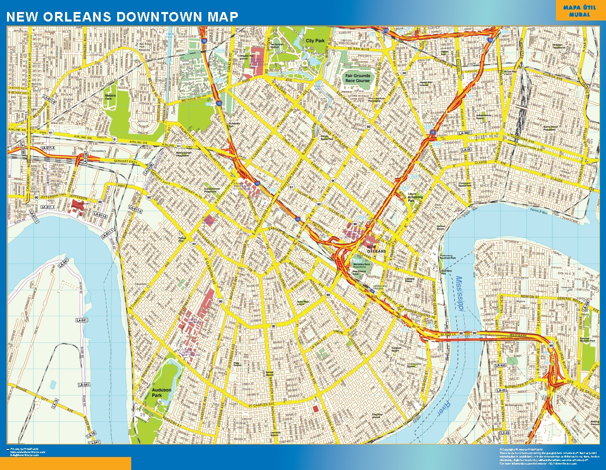 New Orleans Mapa Centro